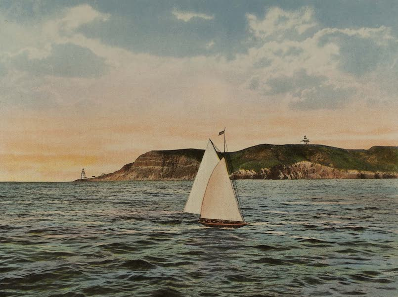 Souvenir from San Diego and Vicinity California - Passing Point Loma, San Diego Bay (1915)