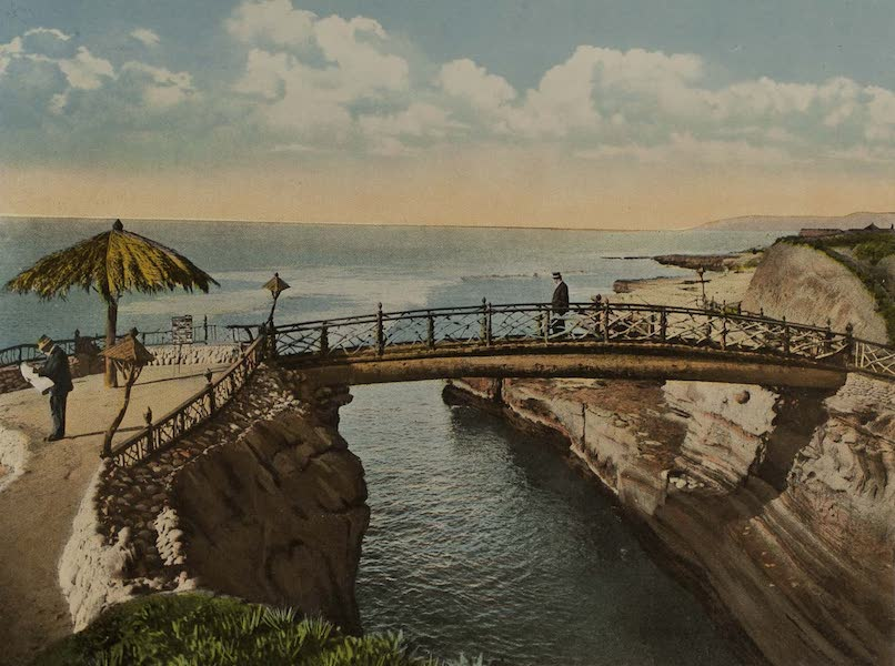 Souvenir from San Diego and Vicinity California - The Bridge at Sunset Cliffs (1915)