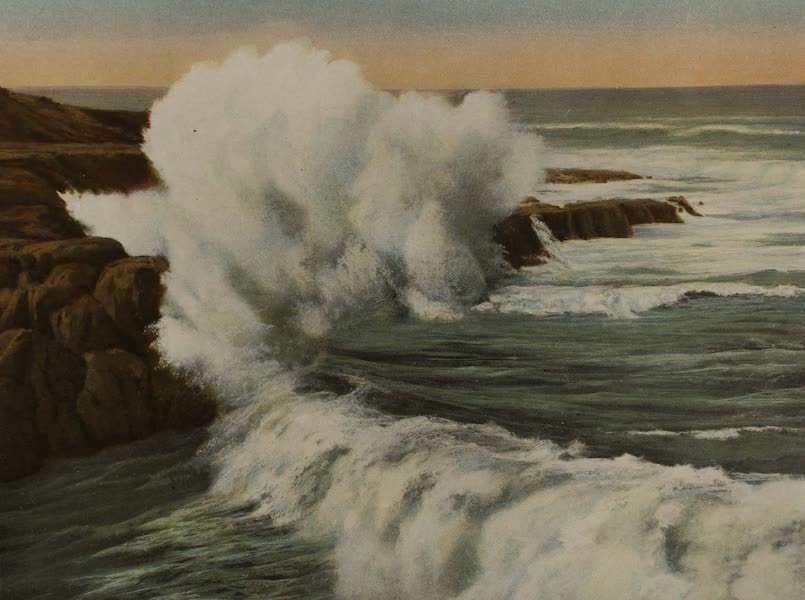 Souvenir from San Diego and Vicinity California - Breakers on the Coast at San Diego (1915)