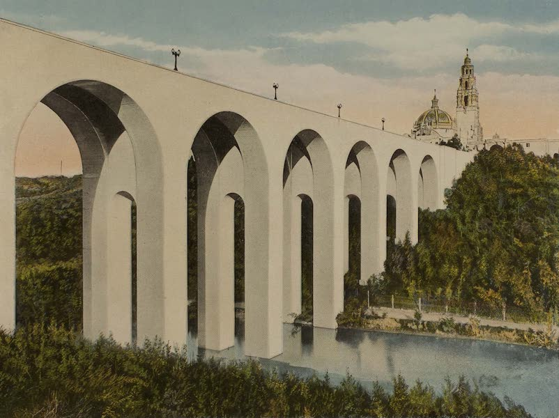 Souvenir from San Diego and Vicinity California - Puente del Cabrillo (1915)