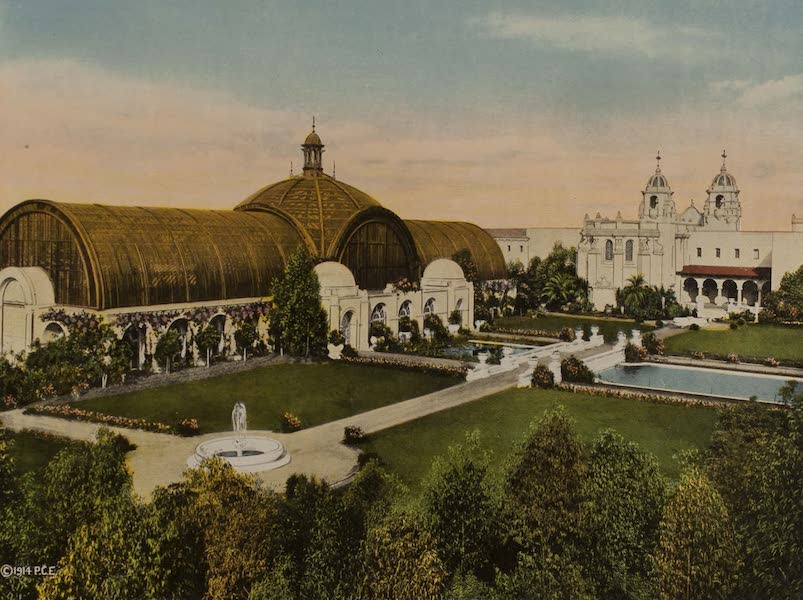 Souvenir from San Diego and Vicinity California - The Botanical Gardens, Panama-California Exposition (1915)