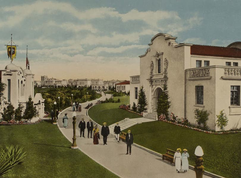 Souvenir from San Diego and Vicinity California - Vista from State Buildings Plaza (1915)