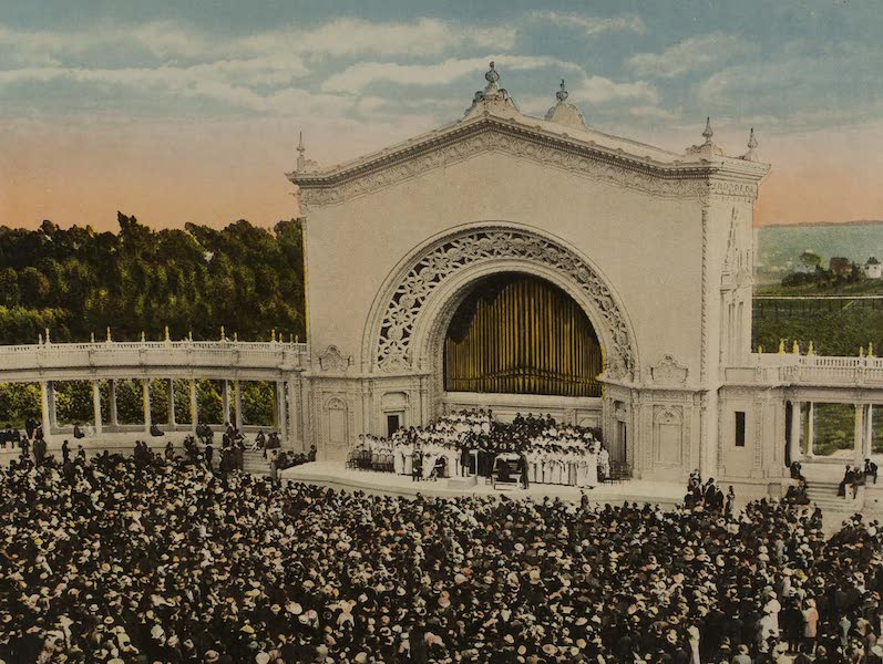 Souvenir from San Diego and Vicinity California - An Afternoon Concert, Spreckel's Pipe Organ (1915)