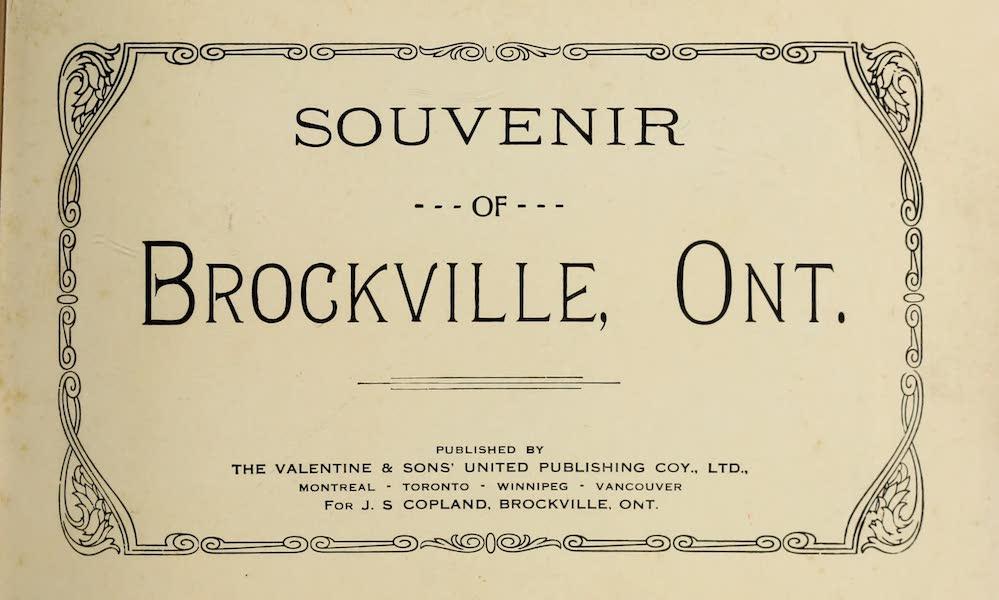Souvenir of Brockville, Ont. - Title Page (1910)