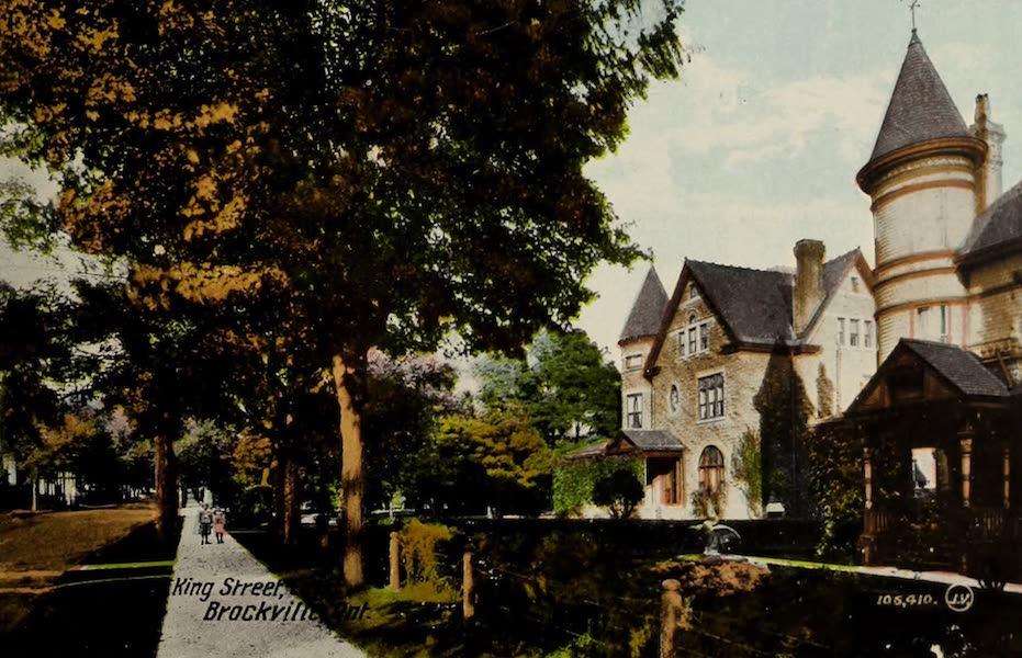 Souvenir of Brockville, Ont. - King Street, Brockville, Ont. (1910)