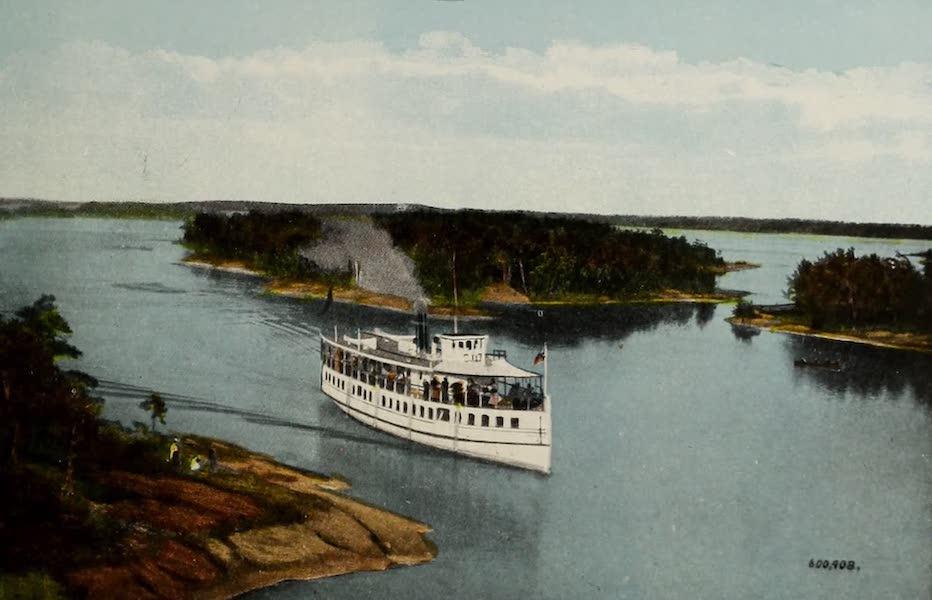 Souvenir of Brockville, Ont. - Brockville in Swift Water, Thousand Islands (1910)