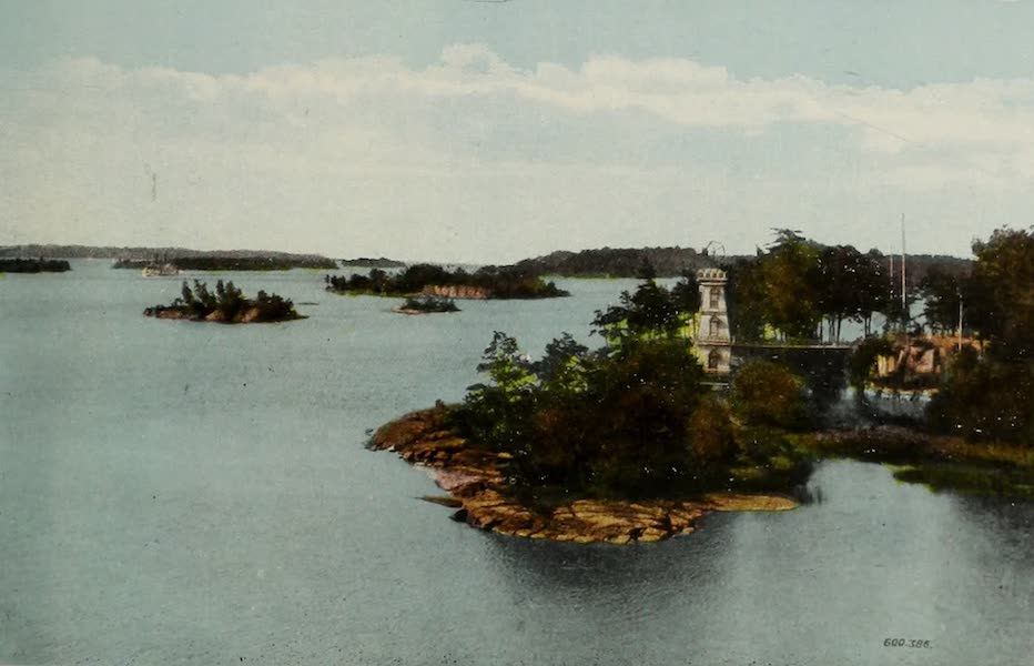 Souvenir of Brockville, Ont. - View of Thousand Islands from Fairhaven (1910)