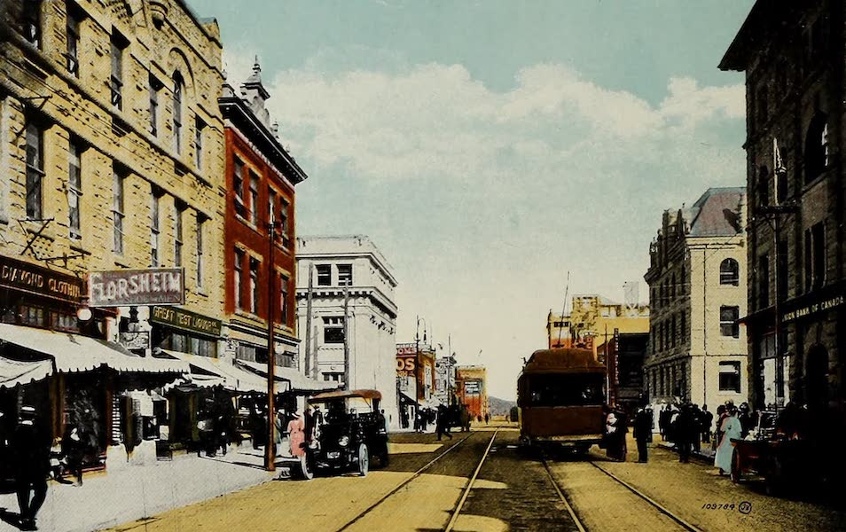 Souvenir of Calgary, Alta. - 8th Avenue East (1912)