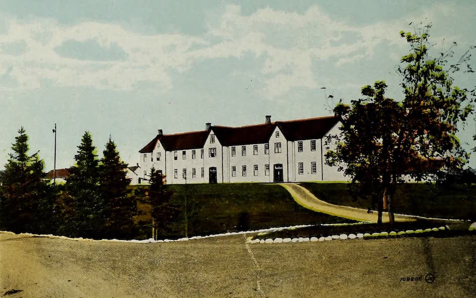 Souvenir of Calgary, Alta. - Royal North-West Mounted Police Barracks (1912)