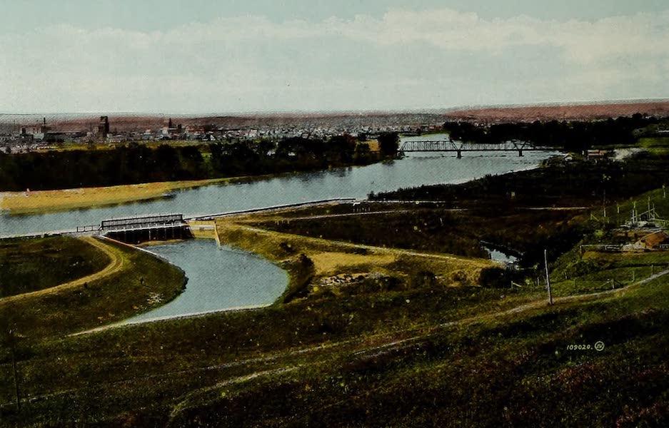 Souvenir of Calgary, Alta. - Head Gates, Irrigation Canal (1912)