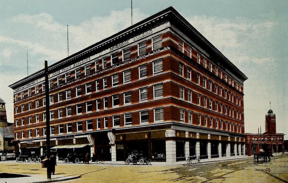 Souvenir of Calgary, Alta. - Beveridge Travis Block and Fire Hall (1912)
