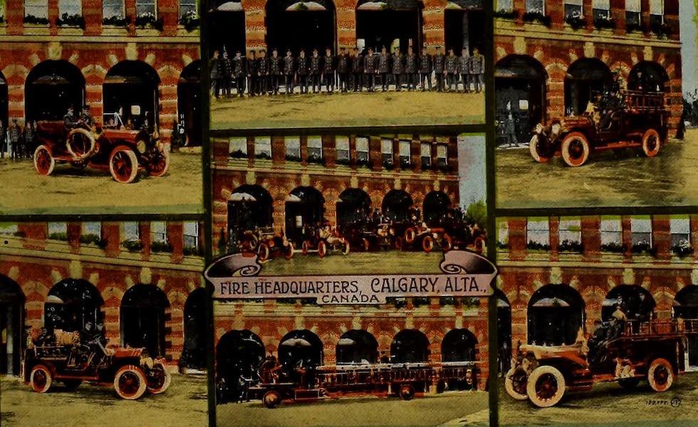 Souvenir of Calgary, Alta. - Fire Headquarters, Calgary, Alta., Canada (1912)