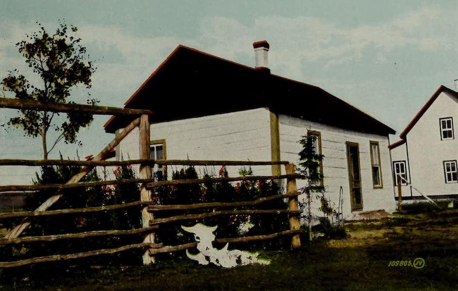Souvenir of Calgary, Alta. - Old Indian House, Sarcee Reserve, near Calgary (1912)