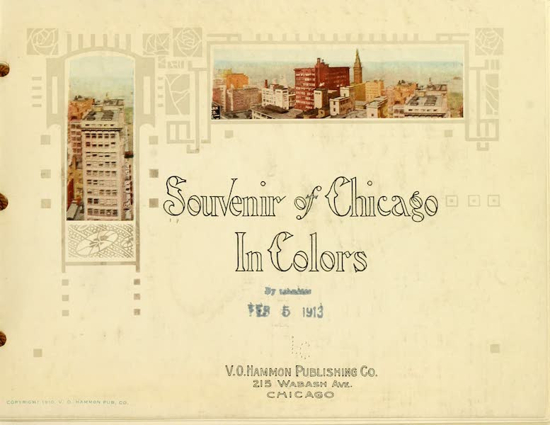 Souvenir of Chicago in Colors - Title Page (1910)