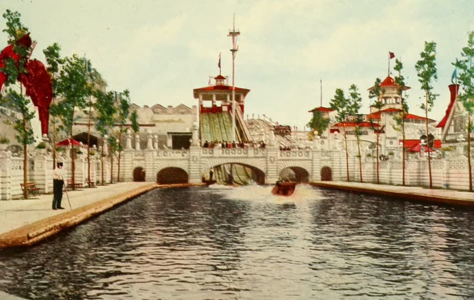 Souvenir of Chicago in Colors - The Chutes, White City (1910)