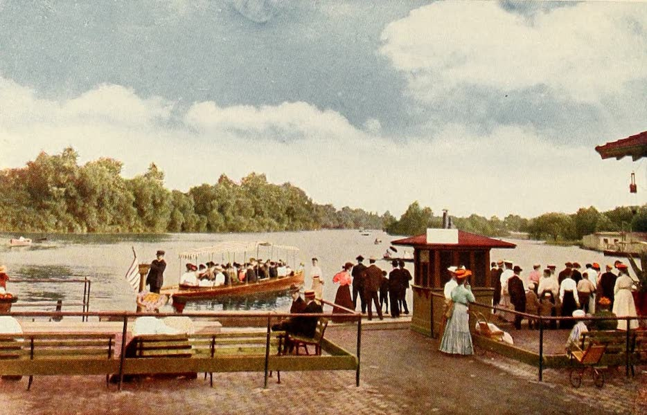 Souvenir of Chicago in Colors - Jackson Park from Boat House (1910)