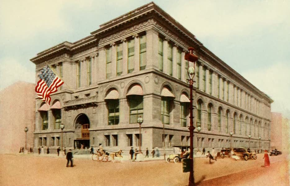 Souvenir of Chicago in Colors - Public Library (1910)