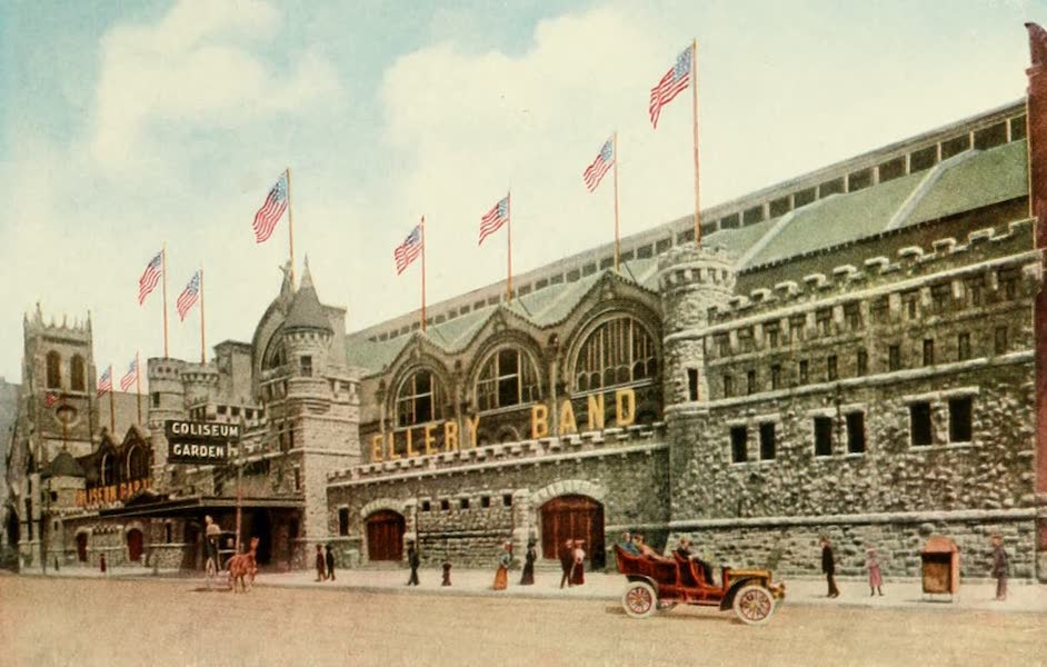 Souvenir of Chicago in Colors - The Coliseum, Wabash Ave. Near 16th Street (1910)