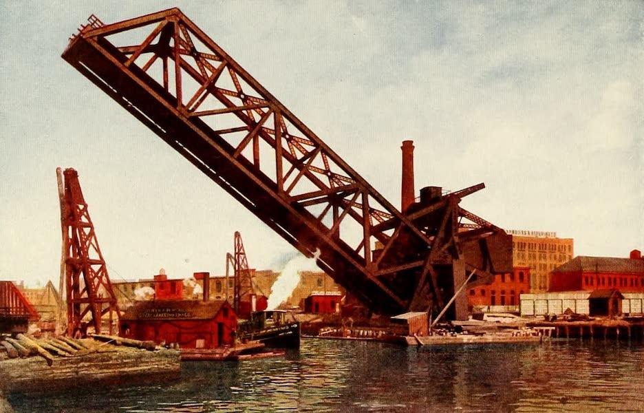 Souvenir of Chicago in Colors - Single Leaf Bascule Bridge (1910)