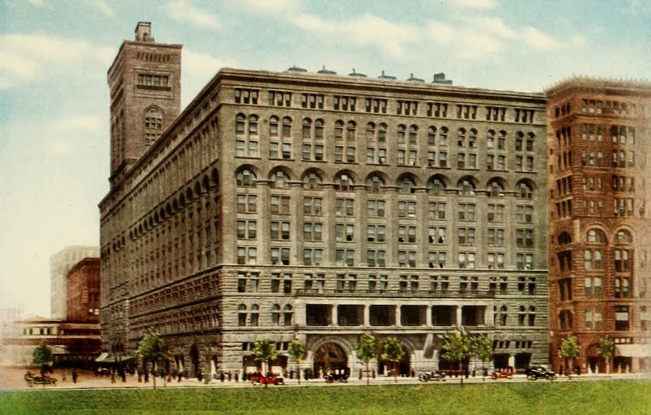 Souvenir of Chicago in Colors - Auditorium Hotel and Theatre (Michigan Ave., Congress St. and Wabash Ave.) (1910)