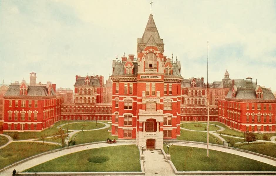 Souvenir of Chicago in Colors - Cook County Hospital (1910)