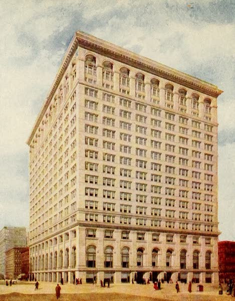Souvenir of Chicago in Colors - First National Bank Building (1910)