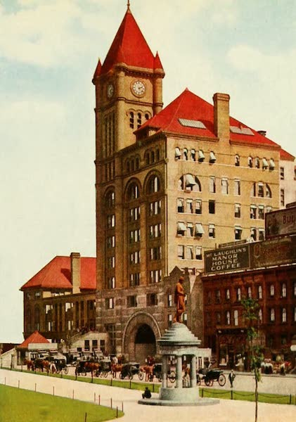Souvenir of Chicago in Colors - Illinois Central Depot (1910)