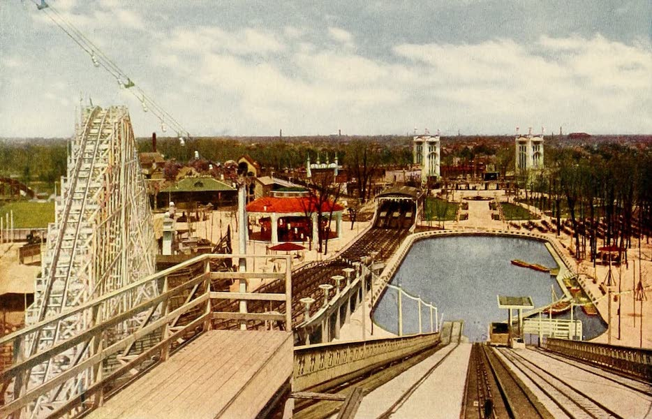 Souvenir of Chicago in Colors - From the Chutes, Forest Park (1910)