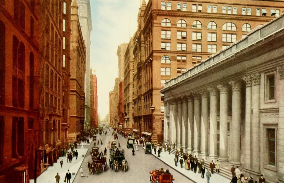 Souvenir of Chicago in Colors - La Salle Street, from Board of Trade Building (1910)