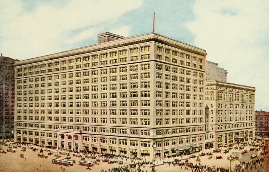Souvenir of Chicago in Colors - Marshall Field & Co. State Street Front (1910)
