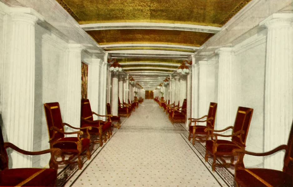 Souvenir of Chicago in Colors - Marble Corridor, Congress Hotel and Annex (1910)