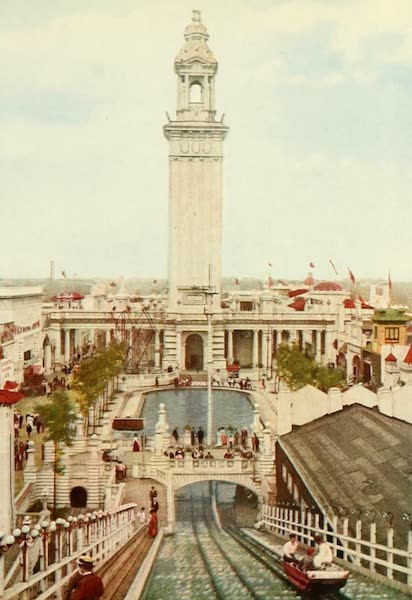 Souvenir of Chicago in Colors - The Electric Tower, White City (1910)