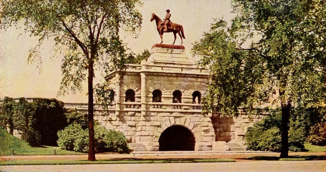 Souvenir of Chicago in Colors - Grant Monument, Lincoln Park (1910)
