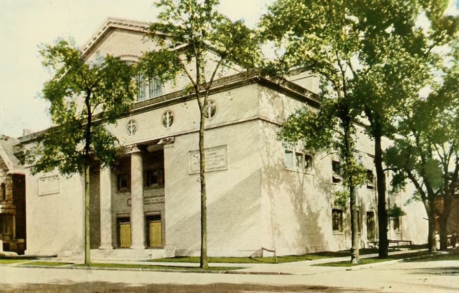 Souvenir of Chicago in Colors - Third Church of Christ, Scientist (Washington Boulevard and Leavitt Street) (1910)