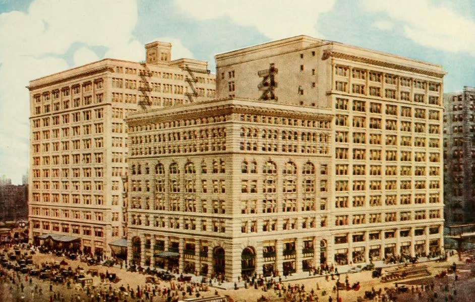 Souvenir of Chicago in Colors - Marshall Field and Co.'s Retail Store (1910)