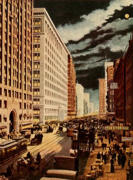 Souvenir of Chicago in Colors - State St. South from Randolph (1910)