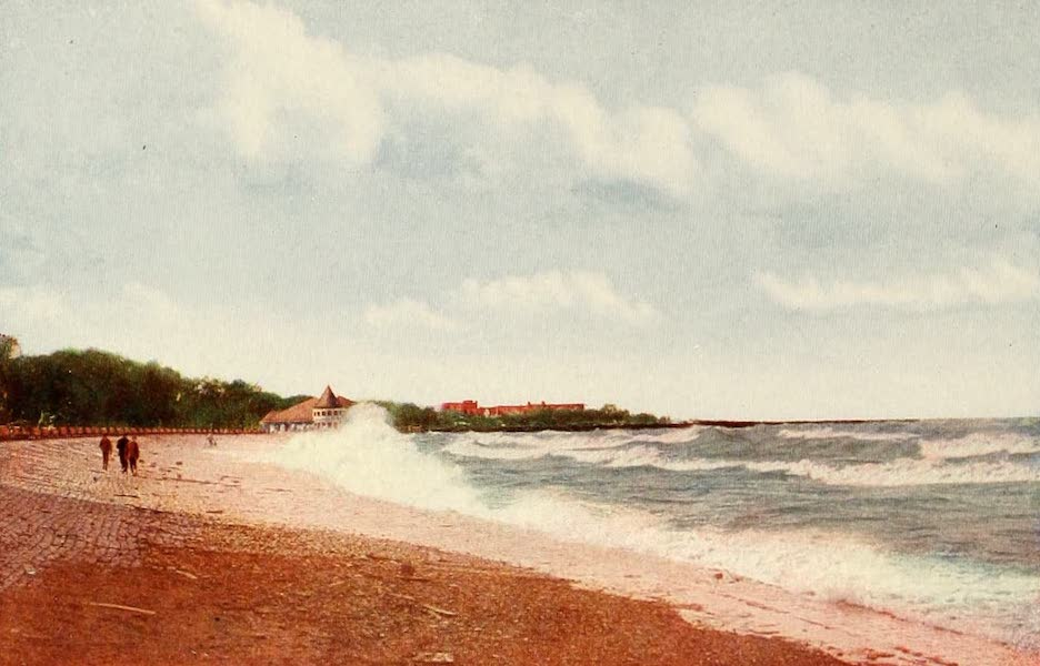 Souvenir of Chicago in Colors - Beach in Jackson Park (1910)