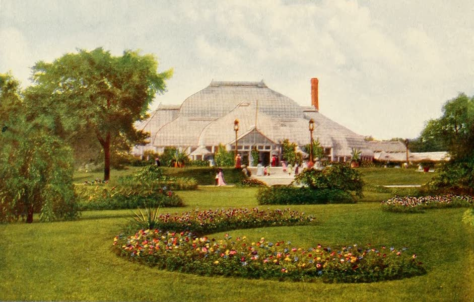 Souvenir of Chicago in Colors - Conservatory, Lincoln Park (1910)