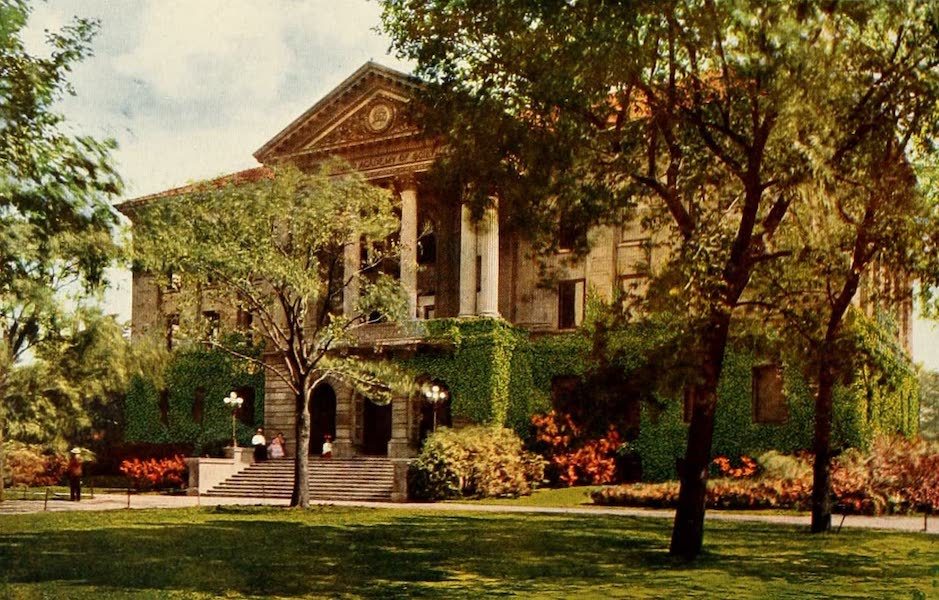 Souvenir of Chicago in Colors - Academy of Science, Lincoln Park (1910)