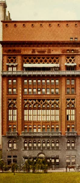 Souvenir of Chicago in Colors - Chicago Athlete Association Building (1910)