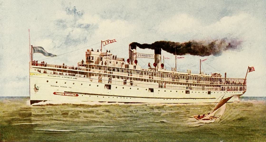 Souvenir of Chicago in Colors - Steamer Theodore Roosevelt (1910)