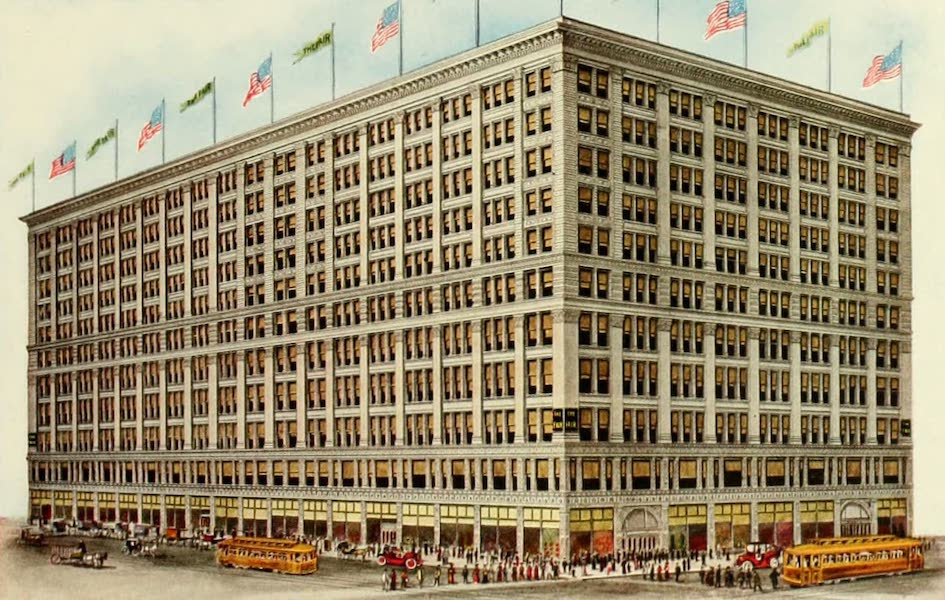 Souvenir of Chicago in Colors - The Fair (State, Adams and Dearborn Streets) (1910)
