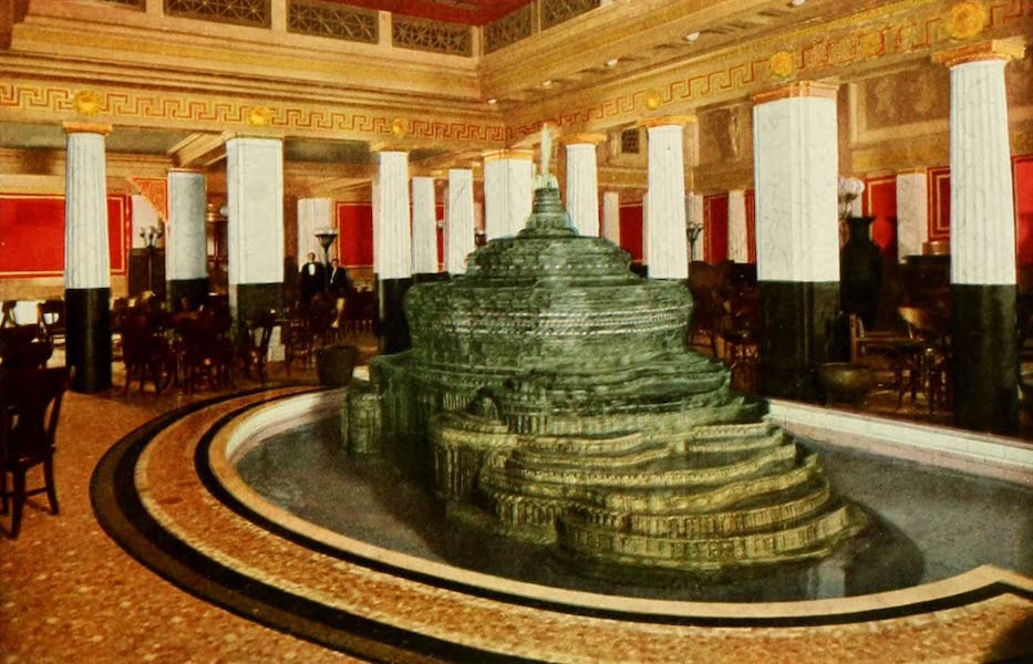 Souvenir of Chicago in Colors - The Pompeiian Room, Congress Hotel and Annex (1910)