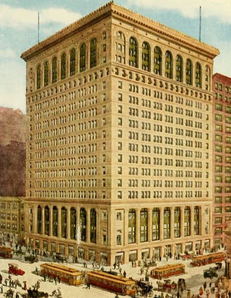 Souvenir of Chicago in Colors - Commercial National Bank Building (Clark and Adams Streets) (1910)