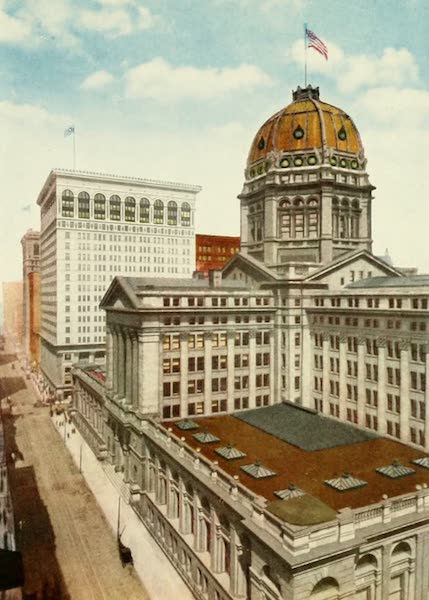 Souvenir of Chicago in Colors - Post Office (1910)