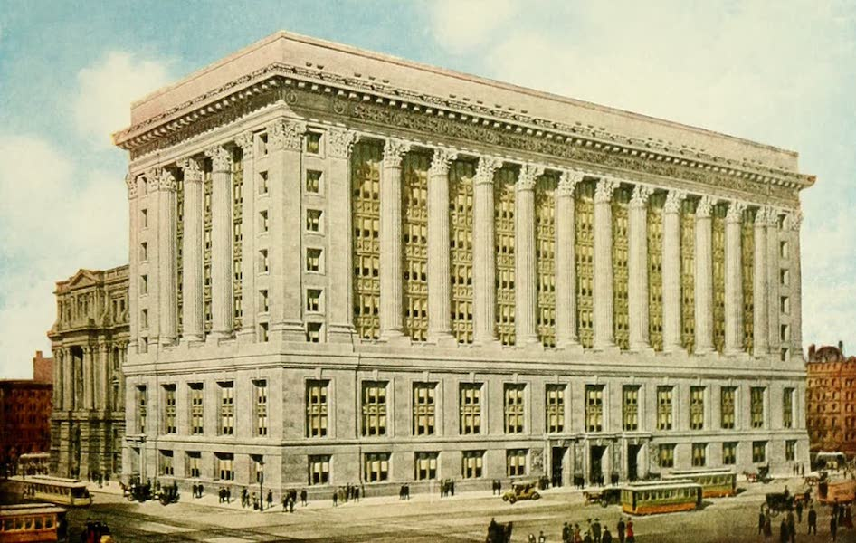 Souvenir of Chicago in Colors - New County Building (1910)