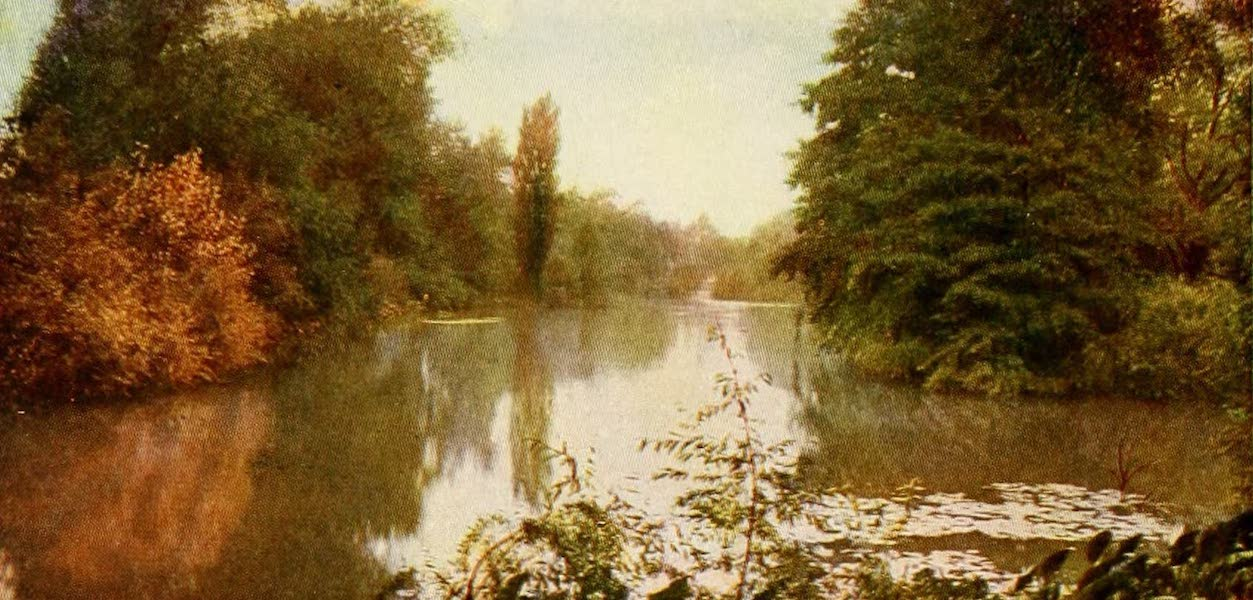 Souvenir of Chicago in Colors - Looking over Lagoon, Washington Park (1910)
