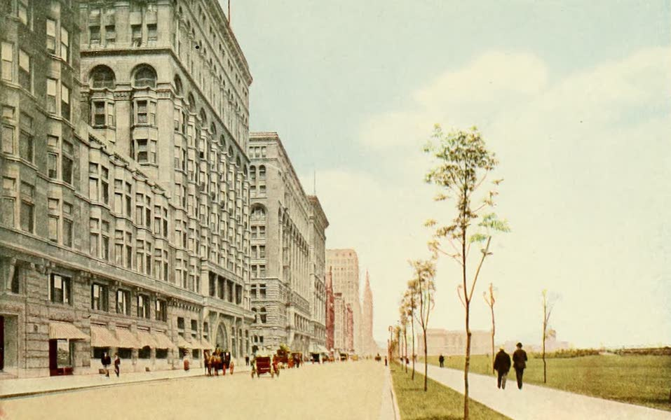 Souvenir of Chicago in Colors - Michigan Boulevard from Congress Annex (1910)