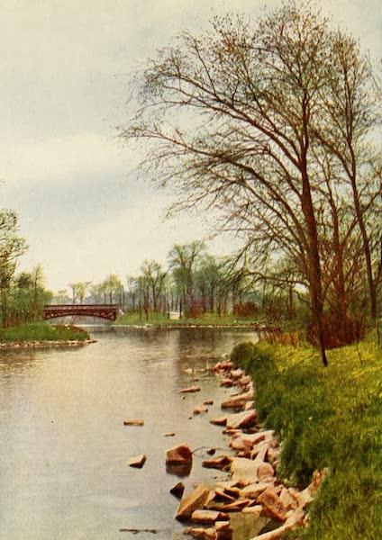 Souvenir of Chicago in Colors - Springtime in Douglas Park (1910)