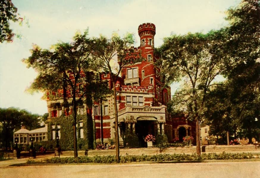 Souvenir of Chicago in Colors - Mrs. Potter Palmer's Residence (1910)